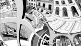 Table of Escher and the Droste phenomenon
