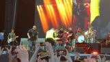 デイヴ · グロールにコンサートの間に彼の足を骨折します。, 返しますが、…