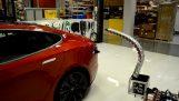 新的特斯拉電動汽車充電器
