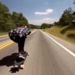 Τρελή κατάβαση με 110 χλμ/ώρα σε Longboard