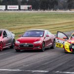Tesla Model S vs V8 Supercar