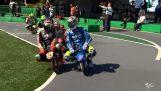How fun professional racing drivers of MotoGP