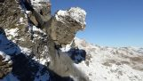 在瑞士的大岩石滑坡