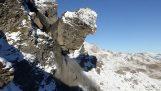 Μεγάλη κατολίσθηση βράχου στην Ελβετία