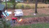 Φωτιά στα ξερά φύλλα
