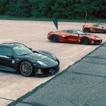 McLaren P1, Porsche 918 Spyder και LaFerrari σε αγώνα δρόμου
