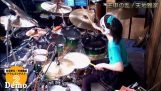 A girl 16 years is an authority on drums