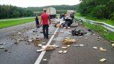 220 κιλά κάνναβης στο δρόμο μετά από ατύχημα