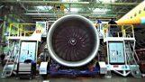 La construcción de un avión Airbus A350