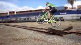 Extreme Tracks mit Rennrad