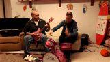 在兒童樂器演奏金屬