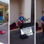 Φοβερός πιτσιρικάς ροκάρει τραγουδώντας AC/DC