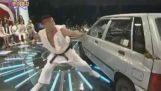 Κατέστρεψε ένα αυτοκίνητο όπως στο Street Fighter
