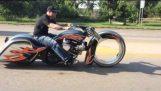 Ballistic Cycles 30″ Hubless Wheel, Twin Turbo Harley Bagger