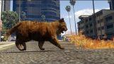 GTA 5 पीसी मॉड Firebreathing दानव किट्टी बुरा किटी