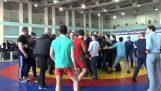 Vladivostok Freestyle güreş kitle kavga sona erdi.