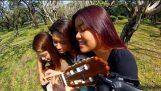 3 Девојке Подели 1 Гитара