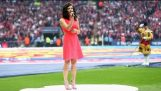 Awkward moment when you miss your cue to sing the national anthem | 2015-16 FA Cup