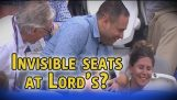 Cricket fan falls off chair at Lord's