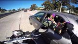 Grabbing Feet on the Freeway