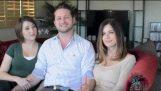 Człowiek opowiada o życiu z jego dwie dziewczyny