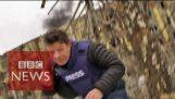 乌克兰: 在停火期间逃离炮火