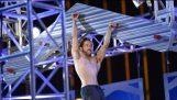 Amerikan Ninja Savaşçı Kazanan Isaac Caldiero 1 milyon $ büyük ödülü