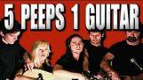 5 άτομα παίζουν μι κιθάρα…