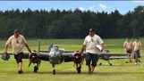 20ft. B-25 Together With Two Giant Me109