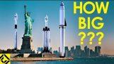 Cât de mari sunt Space X rachete Elon Musk lui?