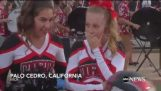 A Cheerleader with leukemia received the most beautiful gift