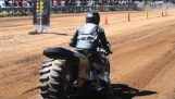 Top Fuel Motorrad Dirt Drag Racing