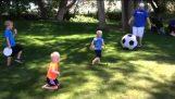 Ο μπαμπάς ήθελε να παίξει με τους γιους του