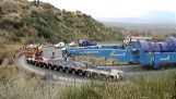 turbine de transfert 600 tonnes virage en épingle à Tripoli