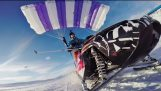 Flying snowmobile – 1,5km High mountain