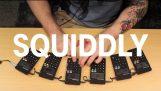 Techno music with 6 calculators