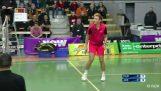 Incredible badminton trickshot by Sam Parsons – Iceland International 2018