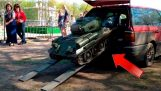 T-34 tank, which is placed in the trunk!