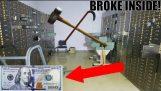 (BUSTING SEIFURI BLOCAT DESCHIS) BANI ÎN INTERIORUL! Banca abandonate cu bani încă interior!