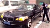 Wife smashes CHEATING husband's BMW after discovering AFFAIR