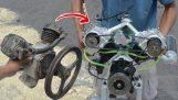 Μετέτρεψε ένα κομπρεσέρ αέρα σε κινητήρα