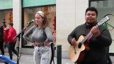 """Die """"Billie Jean"""" von zwei Straßenmusikern"""
