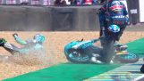 MotoGP: He jumped over a fallen bike and continued the race