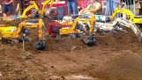 A big construction site by remotely operated vehicles