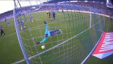 Impressive repulse by the keeper Odense