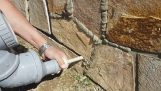 Nástroj pre vyplňovanie škár v kamennej stene