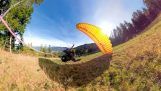 Speedflying paragliding