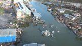 Οι καταστροφές του τυφώνα Michael από ένα ελικόπτερο (Φλόριντα)
