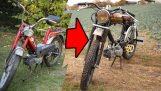 Преобразуване на стар мотопед в Cafe Racer-