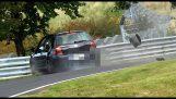 A curva mais perigosa no circuito de Nürburgring